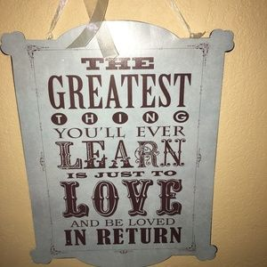 Love and Be Loved Metal Plaque